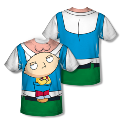 Family Guy Stewie Carrier Sublimation Front and Back Print Adult T-shirt