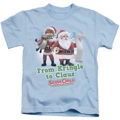 Christmas Santa Claus is Coming to Town Kringle to Claus Juvenile T-shirt