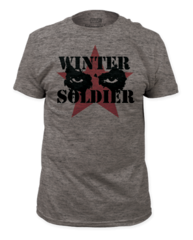 Captain America Winter Solder Cold Stare Adult T-shirt