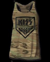 KISS KISS Army Camo Women's Tank Top T-shirt