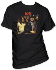 AC/DC Highway to Hell 32 Black Short Sleeve Adult T-shirt