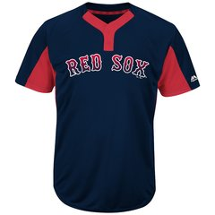 Boston Red Sox Majestic MLB Two Button Color Blocked Jersey
