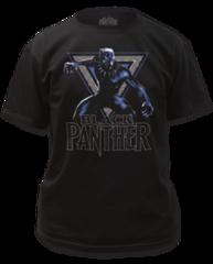 Black Panther Triangle Black Short Sleeve Adult T-shirt