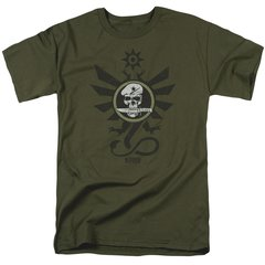 Kong Skull Island Sky Devils Military Green Short Sleeve Adult T-shirt