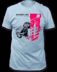 Against Me Shape Shift With Me Light Blue Cotton Short Sleeve Adult T-shirt