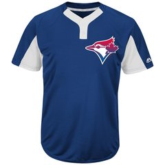 Toronto Blue Jays Majestic MLB Two Button Color Blocked Jersey