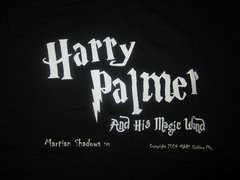 Harry Palmer and His Magic Wand Black 100% Cotton Short Sleeve Adult T-shirt