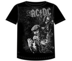 AC/DC  Shoot to Thrill Black 100% Cotton Short Sleeve Adult T-shirt