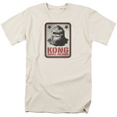 Kong Skull Island Kong Sign White Short Sleeve Adult T-shirt