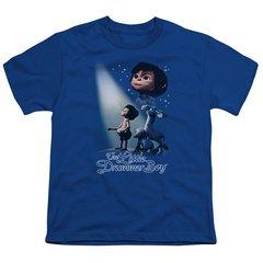 Christmas Little Drummer Boy White Light Youth T-shirt