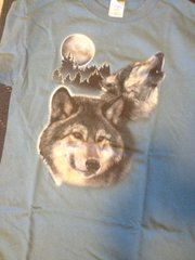 Wolves Howl at the Moon Short Sleeve Adult T-shirt