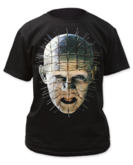 Hellraiser Pinhead Up-Close Black Short Sleeve Adult T-shirt