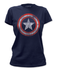 Captain America Distressed Shield Junior T-shirt