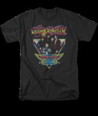 Aerosmith Triangle Stars Adult T-shirt