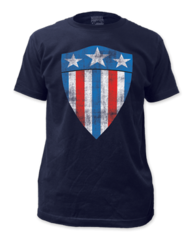 Captain America First Shield Adult T-shirt