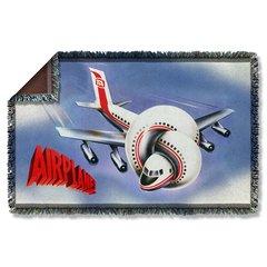 Airplane Postet Woven Throw Blanket