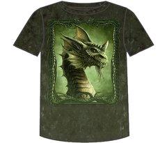 Fantasy Green Dragon Short Sleeve Adult T-shirt