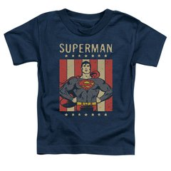 Superman Retro Liberty Toddler T-shirt