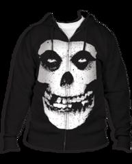 The Misfits Fiend Skull Black Adult Zipper Hoodie