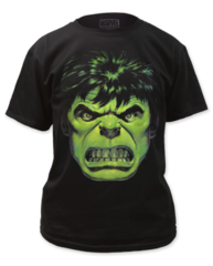 Incredible Hulk Angry Face Adult T-shirt