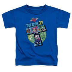 Teen Titans Go T Royal Blue Short Sleeve Toddler T-shirt