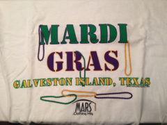 Mardi Gras Beads White Adult Sweatshirt