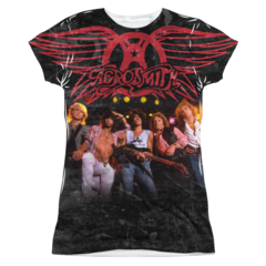 Aerosmith Stage Sublimation Print Front Only Junior T-shirt