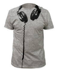 Headphones Big Print Adult T-shirt