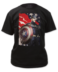 Captain America Winter Solder Patriotic Adult T-shirt