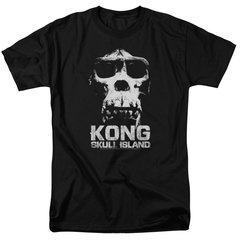 Kong Skull Island Kong Skull Black Short Sleeve Adult T-shirt