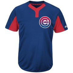 Chicago Cubs Majestic MLB Two Button Color Blocked Jersey