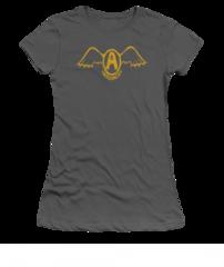 Aerosmith Retro Logo Charcoal Short Sleeve Junior T-shirt
