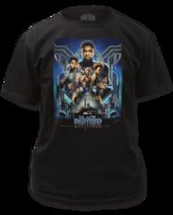 Black Panther Movie Poster Black Short Sleeve Adult T-shirt