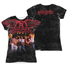 Aerosmith Stage Sublimation Print Front and Back Junior T-shirt