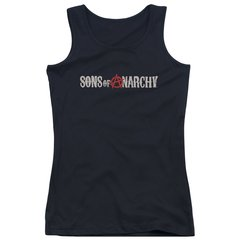 Sons of Anarchy Beat Up Logo Junior Tank Top T-shirt