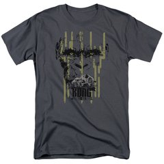 Kong Skull Island Eyes Charcoal Short Sleeve Adult T-shirt