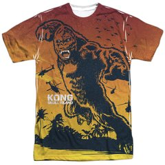Kong Skull Island In The Jungle White Short Sleeve Adult T-shirt