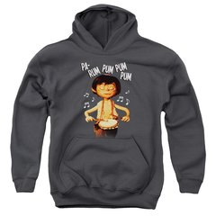 Christmas Little Drummer Boy Drum Beat Youth Pull-Over Hoodie
