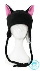 Black Cat Hat - Pink Ears