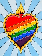 """Burning Rainbow Heart"""