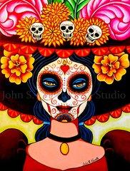 """La Muerta"" 8x10 signed matted print"