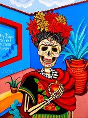 """Casa Azul"" 12x16 digital print"