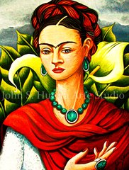 """Frida in Garden"" 16x20 signed matted print"