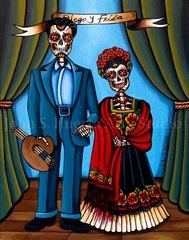 Diego Y Frida 5x7 greeting card