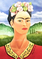 Frida in Meadow 5x7 art greeting card