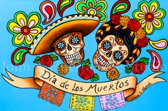 Dia de los Muertos 5x7 art greeting card