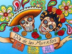 """""""Dia de los Muertos"""" 16x20 signed matted print"""