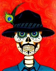 """Pancho Cholo"" 16x20 signed matted print"