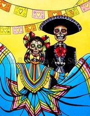 """""""Dia de la Fiesta"""" 8x10 signed matted print"""