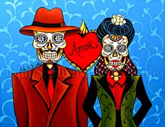 """""""Chico y Consuela"""" 16x20 signed matted print"""